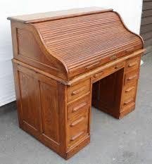 Oak Desk Type 1920 U0027s Oak Pedestal Stype Roll Top Desk With Good Antiques Atlas