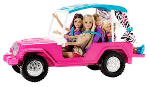 barbie toy cars barbie sisters safari cruiser