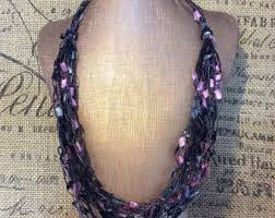 trellis ladder yarn necklace instructions yarn necklace etsy
