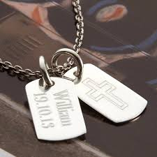 engravable dog tags for men men s necklaces and pendants notonthehighstreet