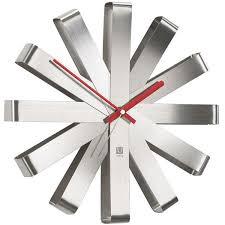 Modern Clocks Large Modern  Designer Wall Clocks Red Candy - Modern designer wall clocks