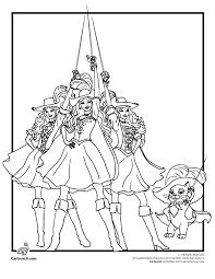 barbie musketeers coloring woo jr kids activities