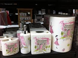 pink spring green u0026 white paris themed bathroom accessories from