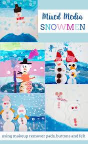 Fourth Grade Halloween Crafts Mixed Media Snowmen Art Project For Kids 1st Grade U2013 Art Is Basic