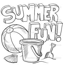 summer sun and water coloring page for kids seasons fun in the