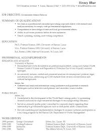 resume for a government affairs director susan ireland resumes