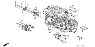 1999 honda accord alternator honda store 1999 accord alternator bracket v6 parts