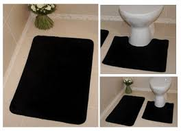 Bathroom Floor Mats Rugs Black Bath Rug Home Design Ideas And Pictures