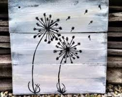 dandelion wood plaques wall diy pallet wall dandelion pallet wall pallets and