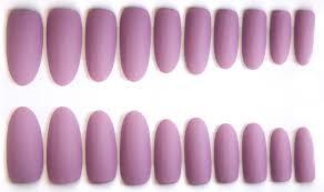 light purple matte fake nails pretty lilac oval stiletto or