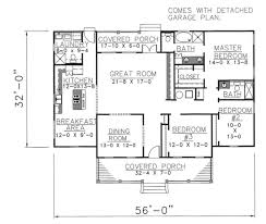 colonial style house plan 3 beds 2 50 baths 1785 sq ft plan 44 102