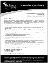 Sample Resume For Maintenance Engineer by Maintenance Electrician Resume Example 1 Ilivearticles Info