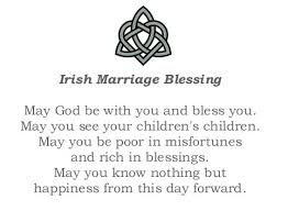 wedding blessing celtic toasts blessings