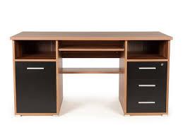 bureau informatique avec caisson tiroirs niches en bois