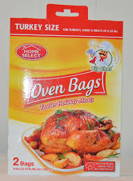 turkey bags home select big check oven bags turkey size 2 bags