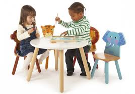 kids animal table and chairs john crane tidlo children s wooden safari animal round table