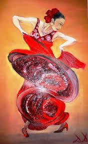 diana diamandieva artwork flamenco dancer original painting oil