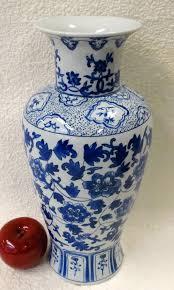 Blue Flower Vases Floral Blue And White Porcelain Vase 14