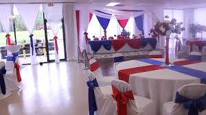Military Retirement Red White and Blue theme at the All Events