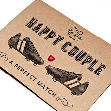 football themed wedding card by papergravy notonthehighstreet