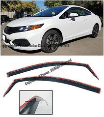 for 12 15 honda civic coupe jdm in channel style side window