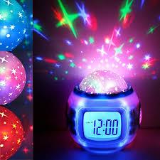 best light alarm clock led projection baby children digital alarm clock room sky star night
