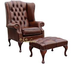 Queen Anne Wingback Chair Leather Chesterfield Prince U0027s Mallory Flat Wing Queen Anne High Back Wing