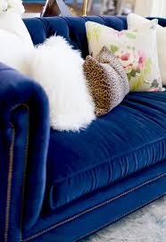 preppy u0026 dreamy living room daily dream decor blue velvet