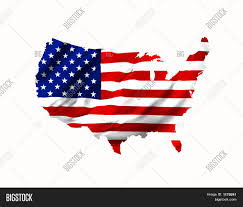 Map Uf Usa by American Flag Shaped As Map Of U S A Stock Photo U0026 Stock Images