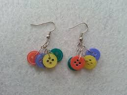 diy button earrings how to make button earrings diy earrings button earrings and