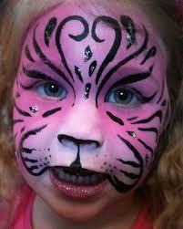 pink tiger face painting by dolls edd on deviantart