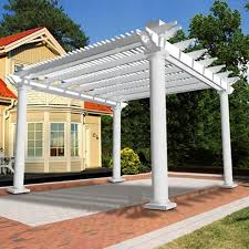 vinyl pergolas vinyl garden patio covers from vinyl fence wholesaler