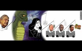 Reptilian Meme - alien reptile and cloaked figure in yair netanyahu s meme have