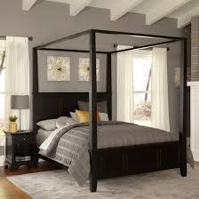 bedford canopy bed black king home styles target