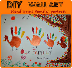 thanksgiving activities handprint family portrait