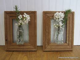 wood frames how i made wall vases from repurposed spice jars and wood frames