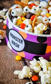fun halloween appetizers monster mash a fun and easy halloween trail mix the love nerds