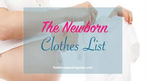 the newborn clothes list jpg