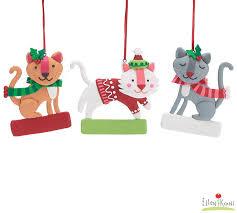 cutesy clay dough ornament set