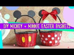 mickey mouse easter basket diy mickey and minnie easter baskets taykover