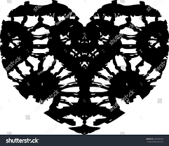 lace heart black lace heart vector stock vector 232296724