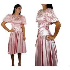 1980s prom 1980s prom dress pink satin dress 80s party dress pink la