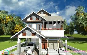 modern sloping roof 2000 sq ft home kerala home design bloglovin u0027