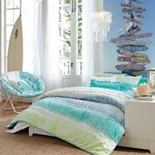 bed u0026 bedding beach themed bedding with wallpaper and chair for