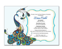 peacock invitations peacock bridal shower invitations dhavalthakur