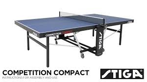 stiga eurotek table tennis table competition compact assembly instructions youtube