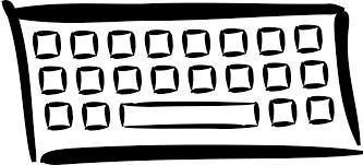 clipart minimalist keyboard