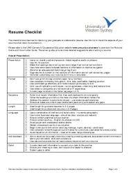 Resume Checklist Resume Checklist Lake Land College