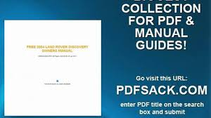 free 2004 land rover discovery owners manual video dailymotion