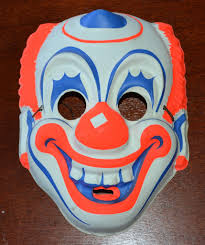 1960s creepy circus clown halloween mask sold on ruby lane